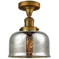 Innovations Lighting 517-1CH-BB-G78-LED Large Bell LED 8 inch Brushed Brass Semi-Flush Mount Ceiling Light Franklin Restoration