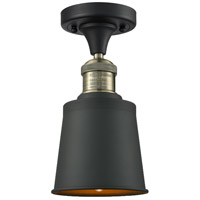 Addison 1 Light 5 inch Black and Brushed Brass Semi-Flush Mount Ceiling Light