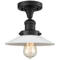 Innovations Lighting 517-1CH-BK-G1 Halophane 1 Light 9 inch Matte Black Semi-Flush Mount Ceiling Light Franklin Restoration