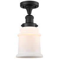 Innovations Lighting 517-1CH-BK-G181-LED Canton LED 6 inch Matte Black Semi-Flush Mount Ceiling Light Franklin Restoration