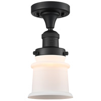 Innovations Lighting 517-1CH-BK-G181S Small Canton 1 Light 6 inch Matte Black Semi-Flush Mount Ceiling Light Franklin Restoration