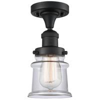 Innovations Lighting 517-1CH-BK-G182S Small Canton 1 Light 6 inch Matte Black Semi-Flush Mount Ceiling Light Franklin Restoration
