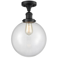 Innovations Lighting 517-1CH-BK-G202-10 X-Large Beacon 1 Light 10 inch Matte Black Semi-Flush Mount Ceiling Light Franklin Restoration