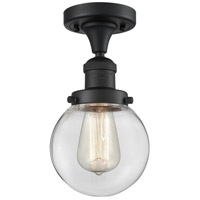 Innovations Lighting 517-1CH-BK-G202-6 Beacon 1 Light 6 inch Matte Black Semi-Flush Mount Ceiling Light Franklin Restoration