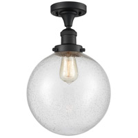 Innovations Lighting 517-1CH-BK-G204-10 X-Large Beacon 1 Light 10 inch Matte Black Semi-Flush Mount Ceiling Light Franklin Restoration