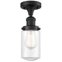 Innovations Lighting 517-1CH-BK-G312-LED Dover LED 5 inch Matte Black Semi-Flush Mount Ceiling Light Franklin Restoration