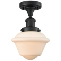 Matte Black Small Oxford Semi-Flush Mounts