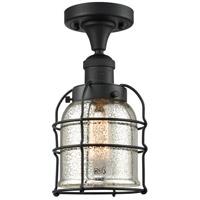 Innovations Lighting 517-1CH-BK-G58-CE Small Bell Cage 1 Light 5 inch Matte Black Semi-Flush Mount Ceiling Light Franklin Restoration