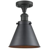 Innovations Lighting 517-1CH-BK-M13-BK Appalachian 1 Light 8 inch Matte Black Semi-Flush Mount Ceiling Light Franklin Restoration