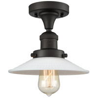 Innovations Lighting 517-1CH-OB-G1 Halophane 1 Light 9 inch Oil Rubbed Bronze Semi-Flush Mount Ceiling Light Franklin Restoration