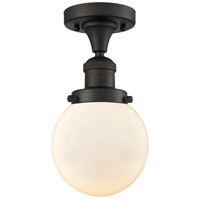 Innovations Lighting 517-1CH-OB-G201-6-LED Beacon LED 6 inch Oil Rubbed Bronze Semi-Flush Mount Ceiling Light Franklin Restoration