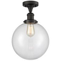 Innovations Lighting 517-1CH-OB-G202-10-LED X-Large Beacon LED 10 inch Oil Rubbed Bronze Semi-Flush Mount Ceiling Light Franklin Restoration