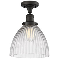 Innovations Lighting 517-1CH-OB-G222-LED Seneca Falls LED 10 inch Oil Rubbed Bronze Semi-Flush Mount Ceiling Light Franklin Restoration