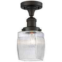 Innovations Lighting 517-1CH-OB-G302 Colton 1 Light 6 inch Oil Rubbed Bronze Semi-Flush Mount Ceiling Light Franklin Restoration