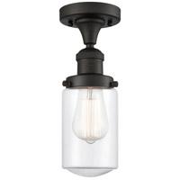 Innovations Lighting 517-1CH-OB-G312-LED Dover LED 5 inch Oil Rubbed Bronze Semi-Flush Mount Ceiling Light Franklin Restoration