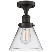 Innovations Lighting 517-1CH-OB-G42-L X-Large Cone 1 Light 12 inch Oil Rubbed Bronze Semi-Flush Mount Ceiling Light Franklin Restoration