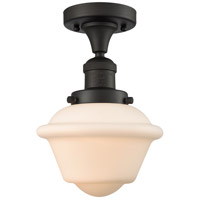 Innovations Lighting 517-1CH-OB-G531-LED Small Oxford LED 8 inch Oil Rubbed Bronze Semi-Flush Mount Ceiling Light, Franklin Restoration