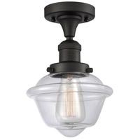 Innovations Lighting 517-1CH-OB-G532 Small Oxford 1 Light 8 inch Oil Rubbed Bronze Semi-Flush Mount Ceiling Light, Franklin Restoration