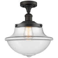 Innovations Lighting 517-1CH-OB-G542-LED Large Oxford LED 12 inch Oil Rubbed Bronze Semi-Flush Mount Ceiling Light Franklin Restoration