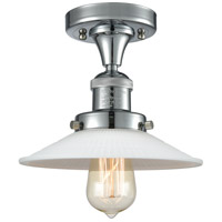 Innovations Lighting 517-1CH-PC-G1 Halophane 1 Light 9 inch Polished Chrome Semi-Flush Mount Ceiling Light Franklin Restoration