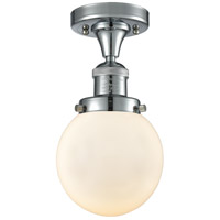 Innovations Lighting 517-1CH-PC-G201-6-LED Beacon LED 6 inch Polished Chrome Semi-Flush Mount Ceiling Light Franklin Restoration