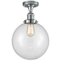 Innovations Lighting 517-1CH-PC-G202-10 X-Large Beacon 1 Light 10 inch Polished Chrome Semi-Flush Mount Ceiling Light, Franklin Restoration