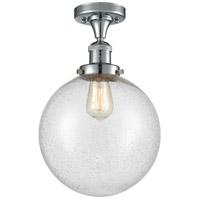 Innovations Lighting 517-1CH-PC-G204-10 X-Large Beacon 1 Light 10 inch Polished Chrome Semi-Flush Mount Ceiling Light, Franklin Restoration