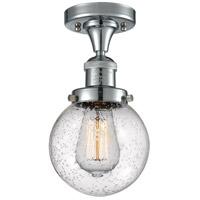 Innovations Lighting 517-1CH-PC-G204-6 Beacon 1 Light 6 inch Polished Chrome Semi-Flush Mount Ceiling Light, Franklin Restoration