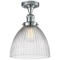 Innovations Lighting 517-1CH-PC-G222-LED Seneca Falls LED 10 inch Polished Chrome Semi-Flush Mount Ceiling Light Franklin Restoration