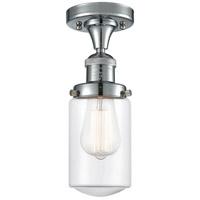 Innovations Lighting 517-1CH-PC-G312-LED Dover LED 5 inch Polished Chrome Semi-Flush Mount Ceiling Light Franklin Restoration