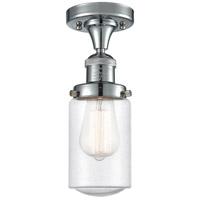 Innovations Lighting 517-1CH-PC-G314-LED Dover LED 5 inch Polished Chrome Semi-Flush Mount Ceiling Light Franklin Restoration