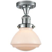 Innovations Lighting 517-1CH-PC-G321 Olean 1 Light 7 inch Polished Chrome Semi-Flush Mount Ceiling Light, Franklin Restoration