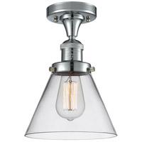 Innovations Lighting 517-1CH-PC-G42-L X-Large Cone 1 Light 12 inch Polished Chrome Semi-Flush Mount Ceiling Light Franklin Restoration