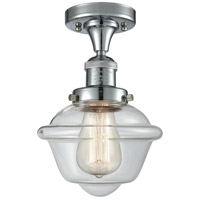 Innovations Lighting 517-1CH-PC-G532-LED Small Oxford LED 8 inch Polished Chrome Semi-Flush Mount Ceiling Light Franklin Restoration