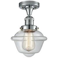 Innovations Lighting 517-1CH-PC-G532 Small Oxford 1 Light 8 inch Polished Chrome Semi-Flush Mount Ceiling Light, Franklin Restoration
