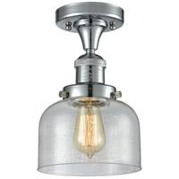Innovations Lighting 517-1CH-PC-G74-L X-Large Bell 1 Light 12 inch Polished Chrome Semi-Flush Mount Ceiling Light Franklin Restoration