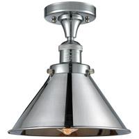 Innovations Lighting 517-1CH-PC-M10-PC Briarcliff 1 Light 10 inch Polished Chrome Semi-Flush Mount Ceiling Light Franklin Restoration