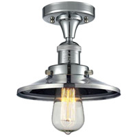 Innovations Lighting 517-1CH-PC-M7-LED Railroad LED 7 inch Polished Chrome Semi-Flush Mount Ceiling Light, Franklin Restoration photo thumbnail