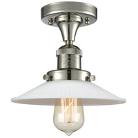 Innovations Lighting 517-1CH-PN-G1 Halophane 1 Light 9 inch Polished Nickel Semi-Flush Mount Ceiling Light Franklin Restoration