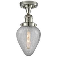Innovations Lighting 517-1CH-PN-G165-LED Geneseo LED 7 inch Polished Nickel Semi-Flush Mount Ceiling Light Franklin Restoration