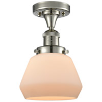 Innovations Lighting 517-1CH-PN-G171 Fulton 1 Light 7 inch Polished Nickel Semi-Flush Mount Ceiling Light