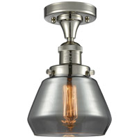 Innovations Lighting 517-1CH-PN-G173-LED Fulton LED 7 inch Polished Nickel Semi-Flush Mount Ceiling Light