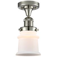 Innovations Lighting 517-1CH-PN-G181S Small Canton 1 Light 6 inch Polished Nickel Semi-Flush Mount Ceiling Light Franklin Restoration