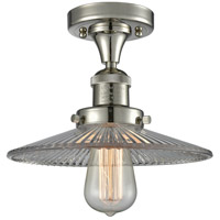 Innovations Lighting 517-1CH-PN-G2-LED Halophane LED 9 inch Polished Nickel Semi-Flush Mount Ceiling Light
