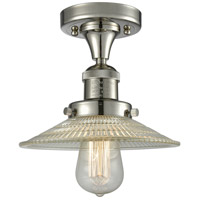 Innovations Lighting 517-1CH-PN-G2 Halophane 1 Light 9 inch Polished Nickel Semi-Flush Mount Ceiling Light Franklin Restoration