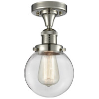 Innovations Lighting 517-1CH-PN-G202-6-LED Beacon LED 6 inch Polished Nickel Semi-Flush Mount Ceiling Light Franklin Restoration