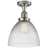 Innovations Lighting 517-1CH-PN-G222-LED Seneca Falls LED 10 inch Polished Nickel Semi-Flush Mount Ceiling Light Franklin Restoration