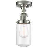 Innovations Lighting 517-1CH-PN-G312-LED Dover LED 5 inch Polished Nickel Semi-Flush Mount Ceiling Light Franklin Restoration