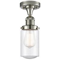 Innovations Lighting 517-1CH-PN-G314-LED Dover LED 5 inch Polished Nickel Semi-Flush Mount Ceiling Light Franklin Restoration