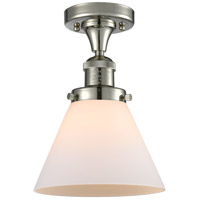 Innovations Lighting 517-1CH-PN-G41-LED Large Cone LED 8 inch Polished Nickel Semi-Flush Mount Ceiling Light